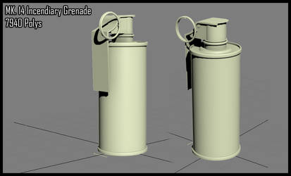 3DS WIP - Incendiary Grenade by Hiroplex