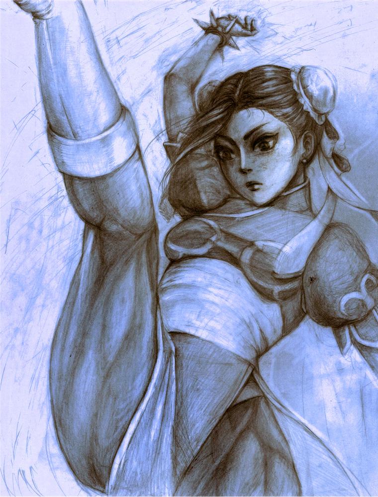 Chun Li High Kick by naru
