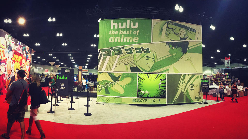 Anime Expo Hulu Backdrop by naru