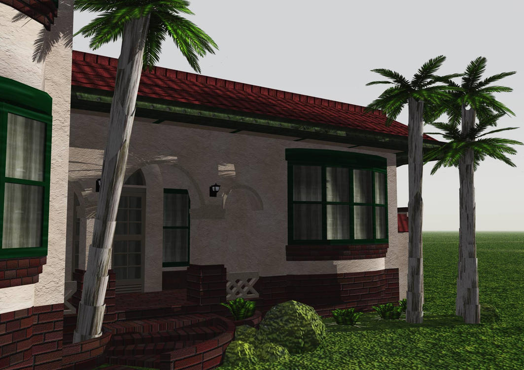Low Poly Spanish Mission HomeB by Ixionx