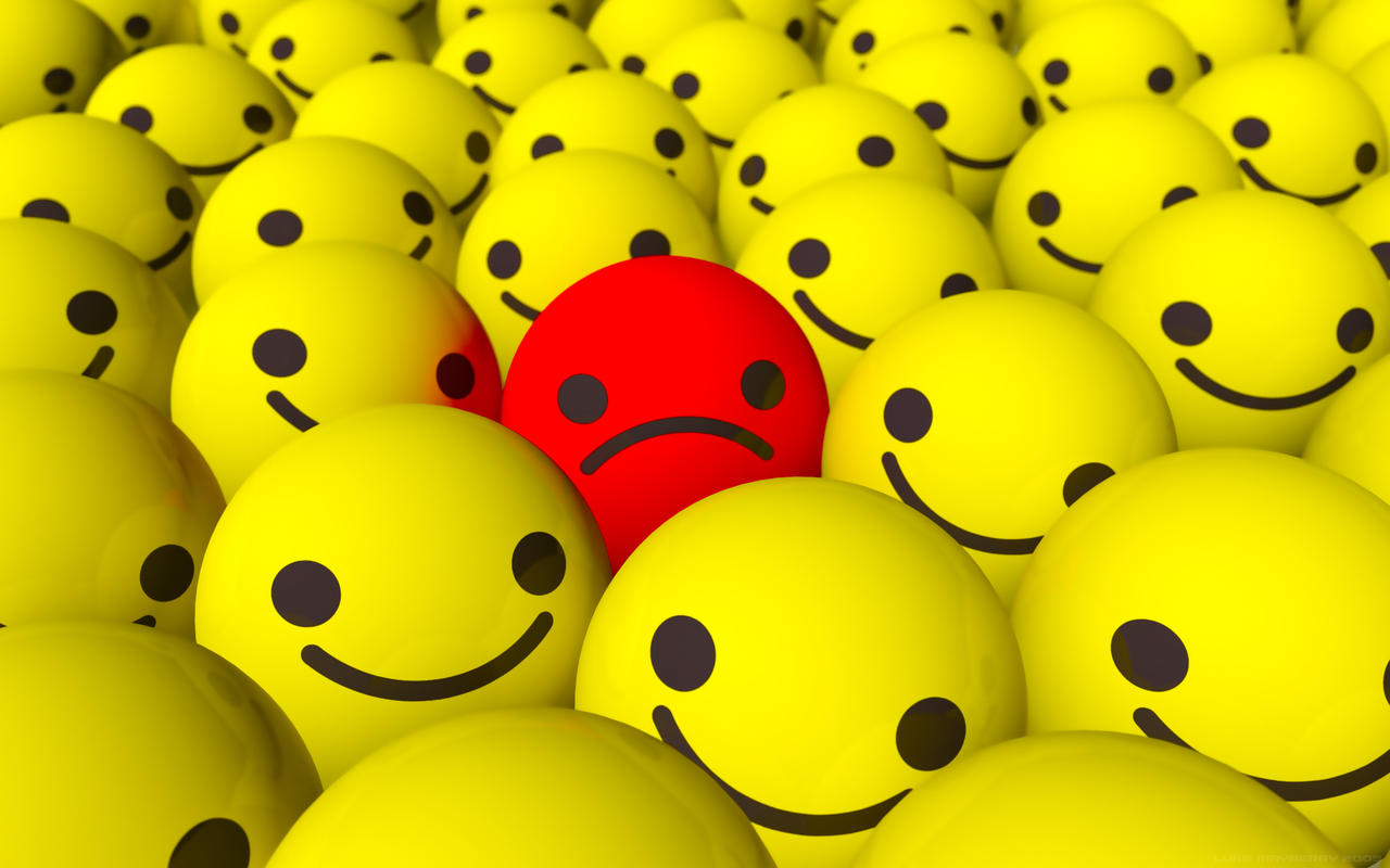 Emo Sad Smiley Wallpaper by Ixionx