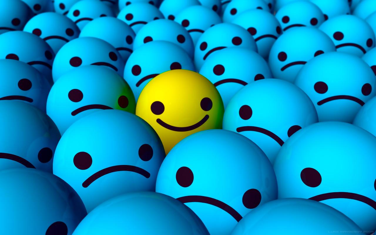 Emo Happy Smiley Wallpaper by IxionxHappy Face Wallpaper