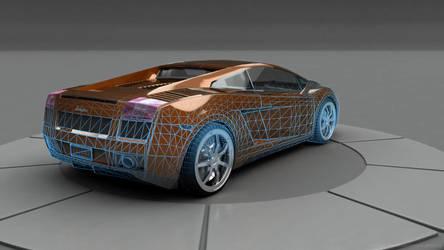 Lamborghini Gallardo Wireframe by Ixionx