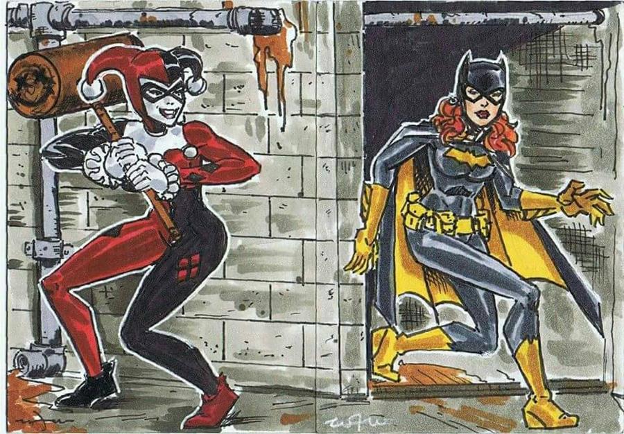 Harley Quinn vs Batgirl  by BigRick1