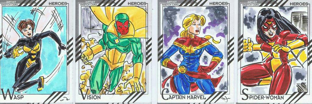 Marvel's Fleer Retro 2016 cards by BigRick1