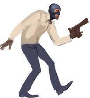 Sneaking Spook WIP by Desolee