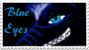 Blue Eyes Fan Stamp by CrystalCircle