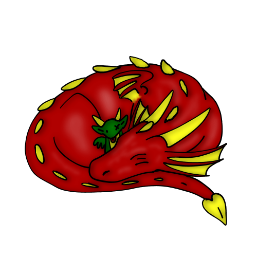 Sleepy Dragon by CrystalCircle