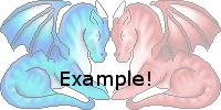 100x100 Love Dragon avatar pair-base included!