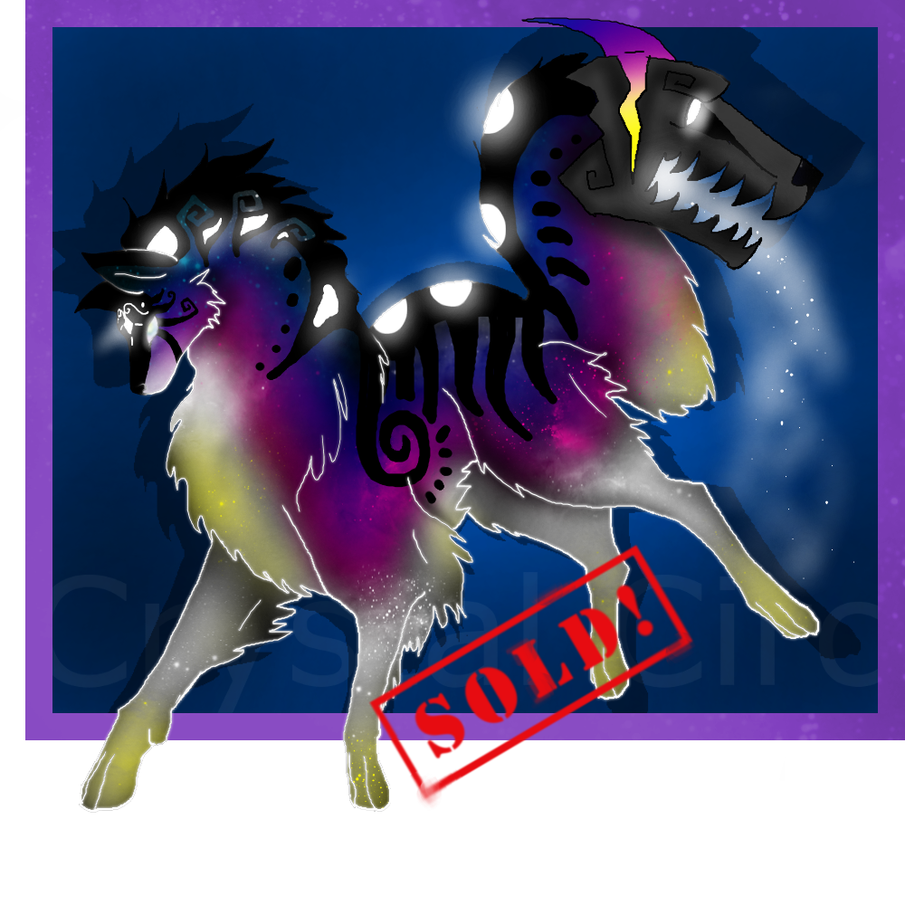 Space TailMouth wolf adopt- (CLOSED!) by CrystalCircle