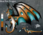 CE-Blue Fire Dragon design