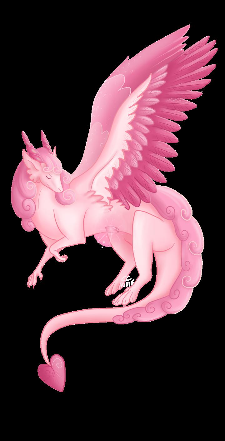 Rose Quartz Dragon