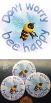 Bee Happy-art pin