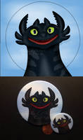 Smiling Toothless-pin back button