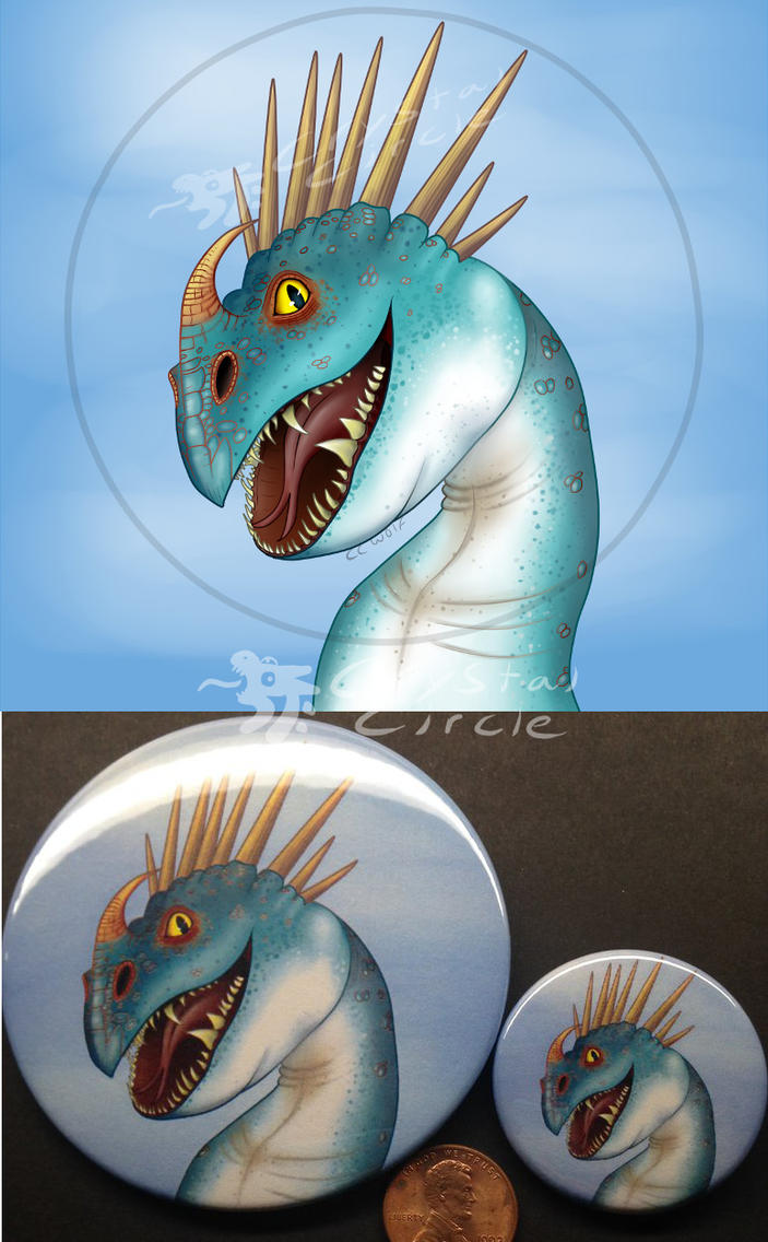 Stormfly-pin back button by CrystalCircle