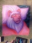Steven Universe-Lion Chalk art