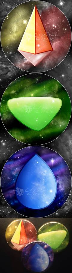 Steven Universe-Home World Gems pin set