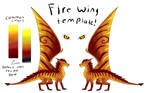 Free to use Fire Wing template