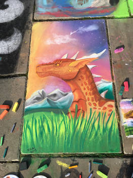 Chalk art-Sunset viewing