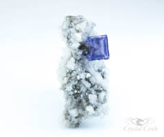 Fluorite with dolomite on matrix - 3