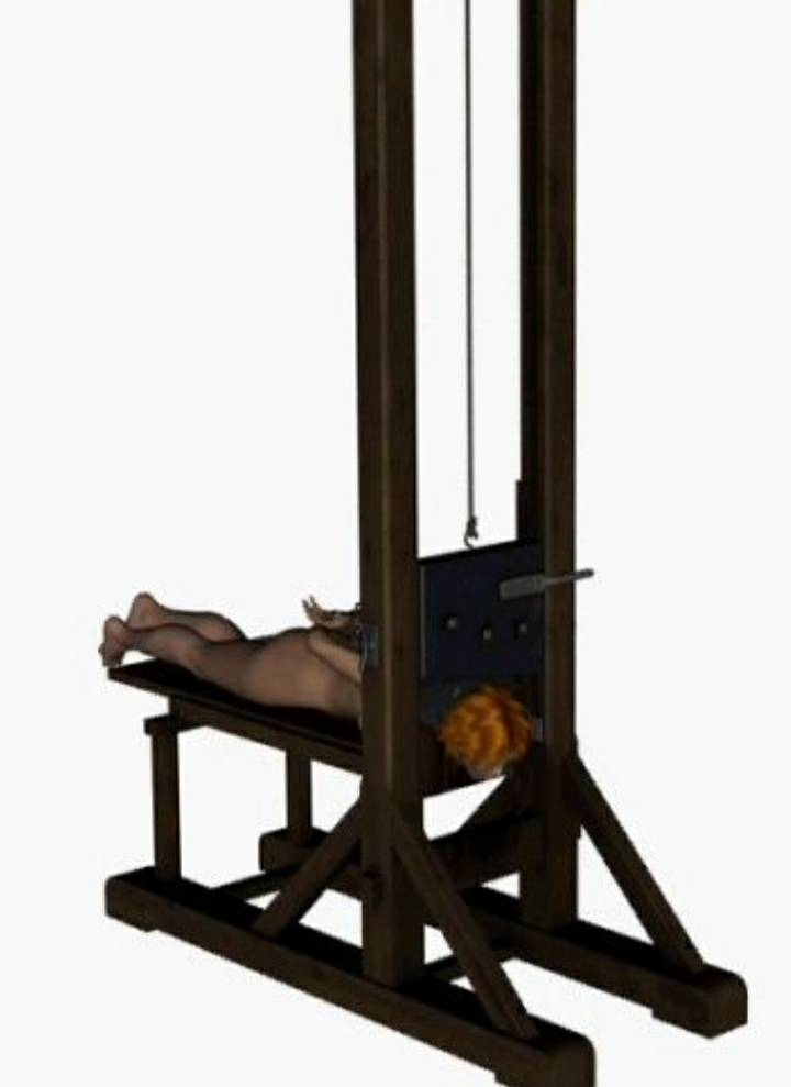 Naked girls head cut off with guillotine Woman Guillotine Beheading By Ninjagh On Deviantart
