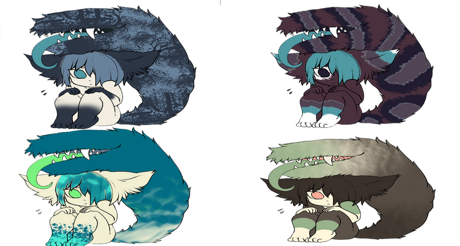 Tail Mouth pallet Adoptables (Closed) by Vexlovely on DeviantArt