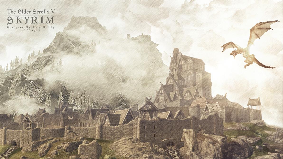 Skyrim: Whiterun Poster by KyleRetro on DeviantArt