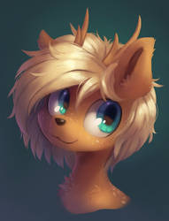 Deer portrait by OrchidPony