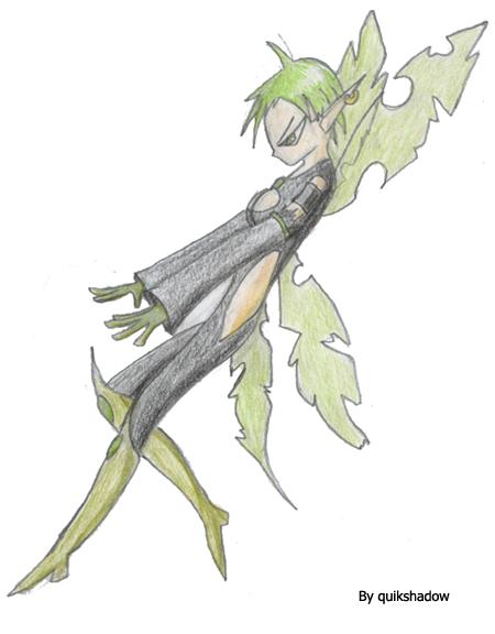 Green Pixie by quikshadow