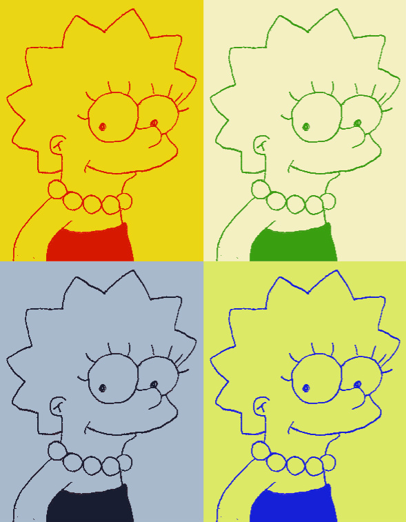 My Drawing of Lisa Simpson (Pop Art) by WinterMoon95