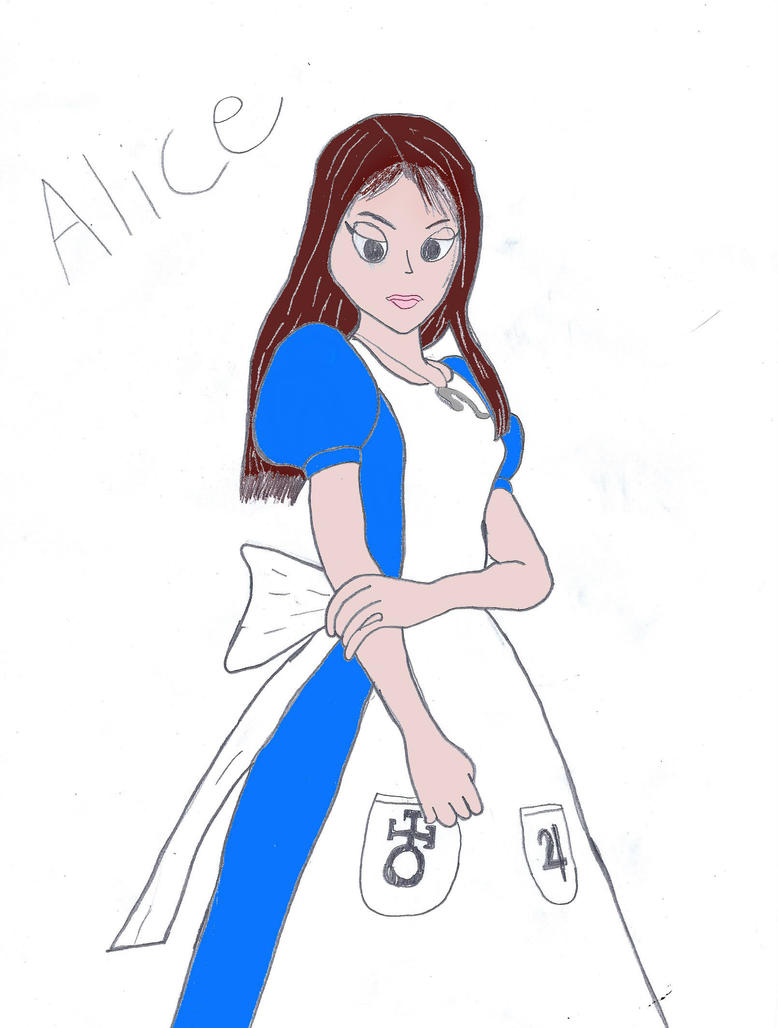 Alice (colored) by WinterMoon95