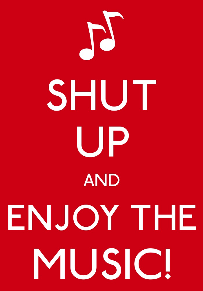 Shut Up And Enjoy The Music By DrawtoonzStudio