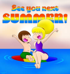 Nett and Sonya's Summer Sign-Off by DrawtoonzStudio