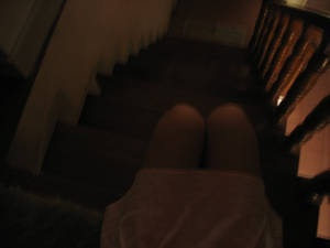 stairs and the girl