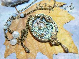 Aquamarine Fairy Door by EnchantedTokenArt