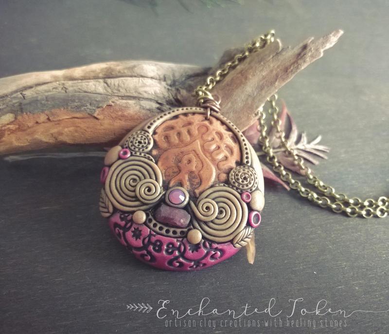 Ethnic Vintaj Copper Tourmaline by EnchantedTokenArt