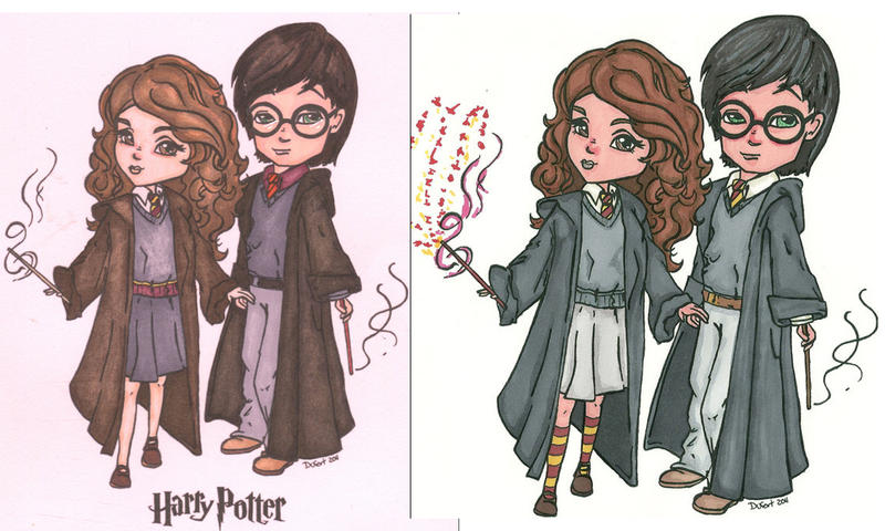 Harry And Hermione Revisited by ErikRoger
