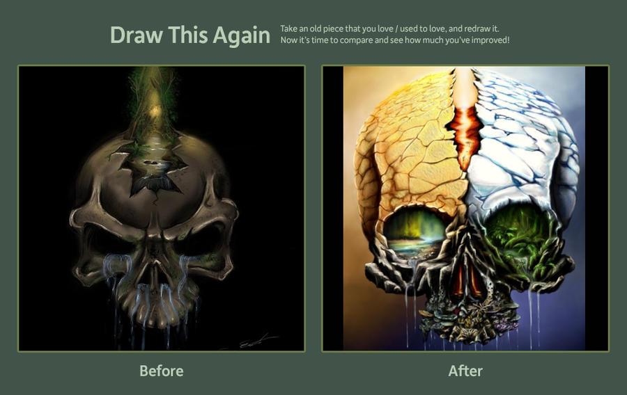Draw this again Natureskull by Threepwoody