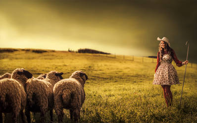 shepherdess by Threepwoody