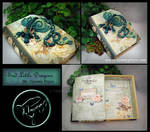 Blue Green Dragon on Medium Dream Book