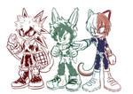 Bakugou Deku Todoroki Style Sonic
