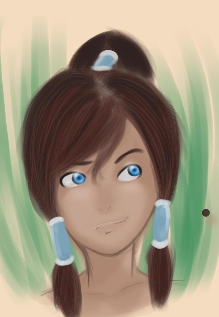 Korra sketch by Hyperdimensionearth