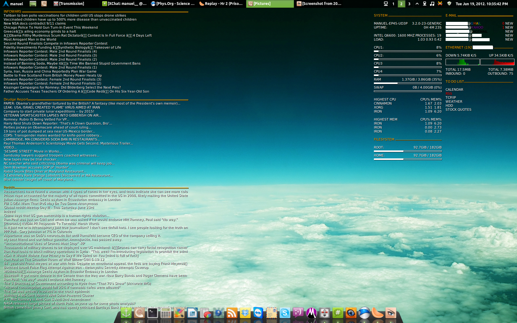 linux desktop screenshots Gallery