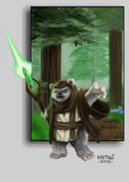 Jedi Ewok by KRETTLLI