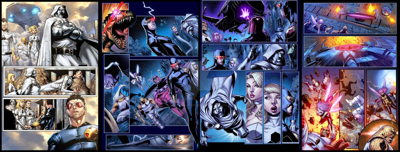 X-MEN n FANTASTIC FOUR 1-4_Colored by totmoartsstudio2