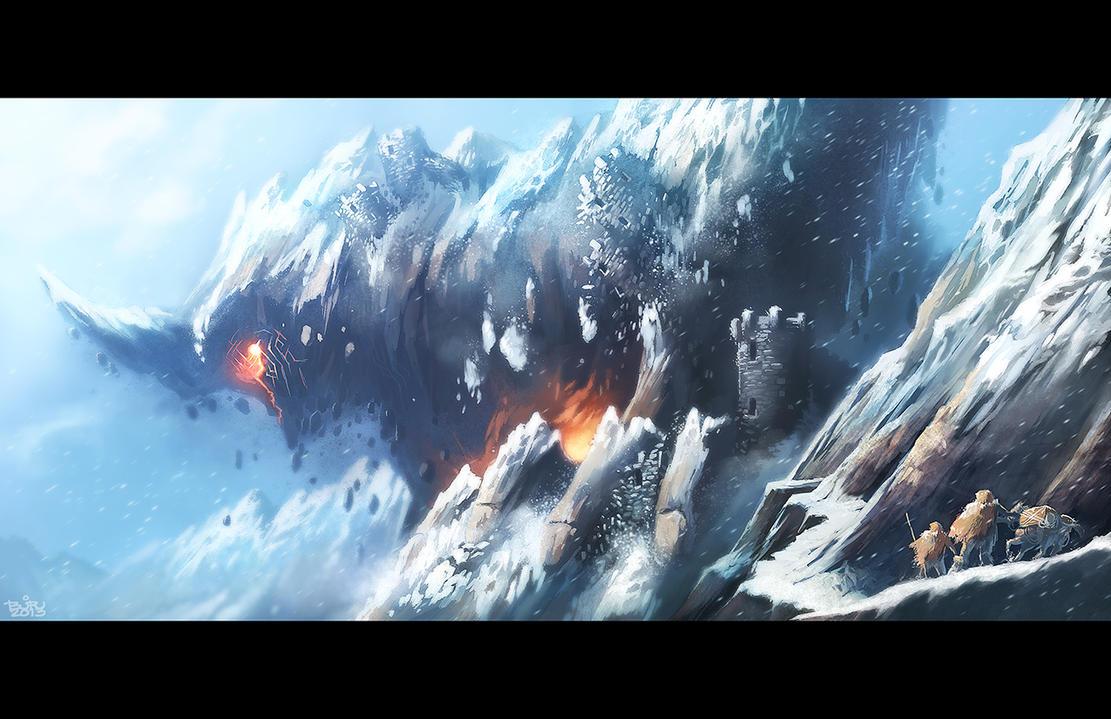 THE MOUNTAIN AWAKENS by totmoartsstudio2
