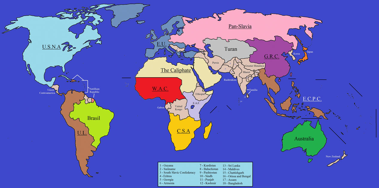 A Map Of The World 2299