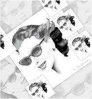 Sunglasses Portrait Montage by kfairbanks