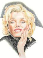 Marilyn Monroe in Black by kfairbanks