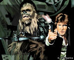 Chewbacca with Han Solo